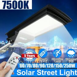990000LM LED Commercial Solar PIR Sensor Street Light Dusk Dawn IP67RemotePole