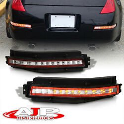 Clear 4 in 1 Sequential LED Brake Fog Lights Lamps For 2003 2009 Nissan 350z Z33 $162.99