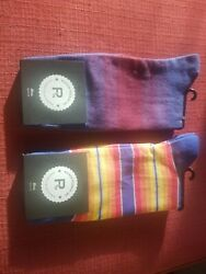 Richer and Poorer Inc Mens size 6 12 Socks 2 Pairs NWT $9.99