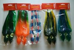 Boone Squid Skirts 5pack 5colors $29.95