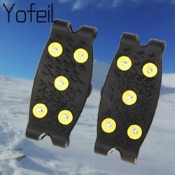 5 Studs Ice Spikes Winter Ice Floes Cleats Crampons Antislip Grips Outdoor Snow $3.99