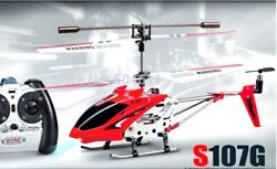 S107G Remote Control Helicopter Outdoor LED Light RC Drone Gyro TOY UK US Stock $49.00