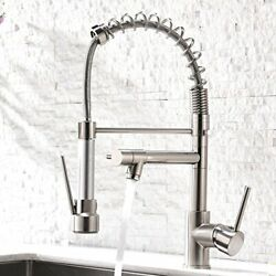 Contemporary Kitchen Sink FaucetSingle Handle Stainless Steel Kitchen Faucets $141.17