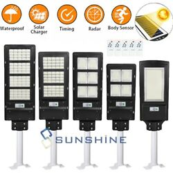 120000LM Commercial Solar LED Street Light Outdoor Area Security IP67 Road Lamp