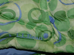LL BEAN VEST DOWN INSULATION WARM PRINT PUFFER GREEN PURPLE GIRL#x27;S XL 18 $30.00