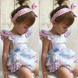 New Sweet Baby Girls Floral Romper Jumpsuit Outfits $11.99