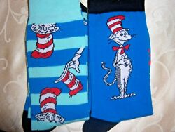 2 PAIR MENS ladies plus novelty socks CAT IN THE HAT $15.99
