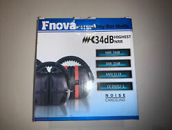 34dB Highest NRR Safety Ear Muffs Shooting Hearing Protector Black Ear Defenders $14.00
