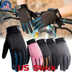 Bike Riding Full Finger Glove Racing Motorcycle Gloves Cycling Bicycle Outdoor $9.99