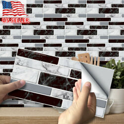 54PCS Self Adhesive Mosaic Brick Tile 3D Sticker Kitchen Bathroom Wall Stickers $8.49