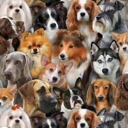 Dog Breed Fabric #1314Black Puppies Quilt Shop Quality Cotton $8.50