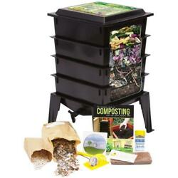 Black Worm Composter with Compost Tea Spigot Indoor or Outdoor $245.27