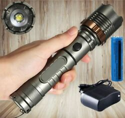 990000LM Rechargeable LED Flashlight Tactical Police Super Bright Torch Zoomable $10.98
