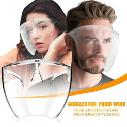 Clear Face Shield Face Mask Transparent Reusable Glasses Visor Anti Fog US Full $12.99