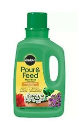 Miracle Gro 32 oz. Pour and Feed Liquid Plant Food Fertilizer Indoor $19.99