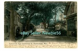 Provincetown Mass MA TREMONT STREET FROM COMMERCIAL STREET Postcard Cape Cod