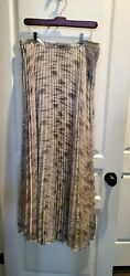 Moulinette Soeurs Anthropologie Silver Gold Holiday Shimmer Maxi 12 NWT $99.00