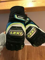 LEKI World Cup Racing Ti S Mitten Black Cyan NWT Priced to Sell   $70.00