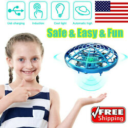Mini Drone Hand Operated UFO Levitation LED RC Helicopter Flying Toys For Kids $15.95
