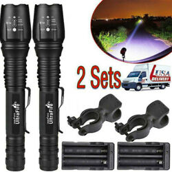 350000Lumens 5Modes Zoomable LED Flashlight Aluminum Torch Lamp Sets XI $25.39
