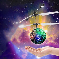 Funny Lighting Obstacle Sensor Flying Ball Drone Helicopter Toy for Kids Play $6.09