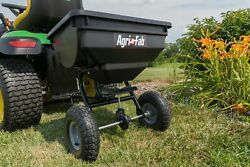 Fertilizer Spreader Broadcast Seed Lawn Pneumatic Tires 85 lb. Push Hopper $74.88