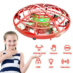 360° Mini Drone UFO Aircraft Flying Toy LED Hand Control for Kids Christmas Gift $16.95