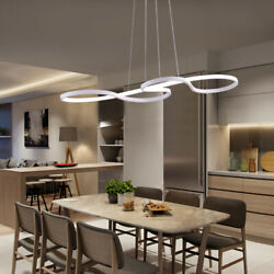 Flush Ceiling Lamp LED Acrylic Dining Table Pendant Lighting Modern Chandelier $89.00