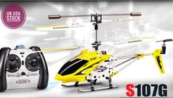 High Quality S107G Remote Control Helicopter Outdoor LED Light SYMA RC Drone TOY $99.00
