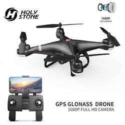 Holy Stone HS110G Selfie RC Drones GPS with 1080P HD Camera Hover 2 Battery Bag $109.95