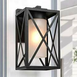 Exterior Light Fixtures Wall Mount Outdoor Sconce with Frosted Glass A03500