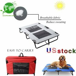 Stable Elevated Pet Bed Dog Cat Lounger Folding Steel Frame Breathable Mesh Mat $39.65