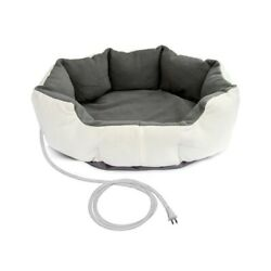 Heated 26 inch Medium size Dog Bed in White Grey with 6ft Electric Cord $92.40