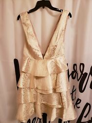 women gold party dress NWT $16.90