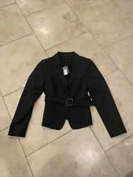 The Limited Womens Suit Jacket Blazer Long Sleeve 2 Button With Belt NWT $22.95