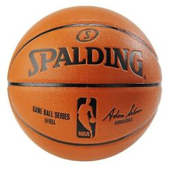 Spalding NBA Game Ball Replica Silver Series Basketball 29.5quot; Full Size $44.99