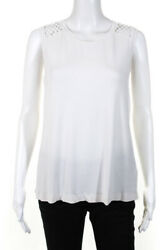 Townsen Womens Cut Out Sleeveless Top White Size Large $29.01