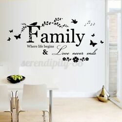 22.5#x27;#x27; Removable Home Decor Wall Sticker Family Letter Vinyl Decal Art Mural $6.59