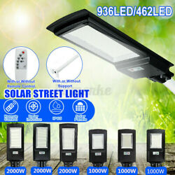 990000LM Commercial LED Solar Street Light Motion Sensor Dusk to DawnRemote