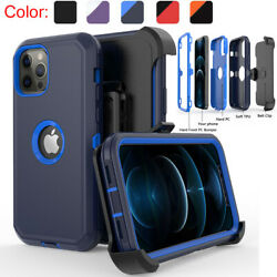 For iPhone 12 12 Pro Max 11 Pro Max XR Shockproof Case Stand Belt Clip Holster $9.99