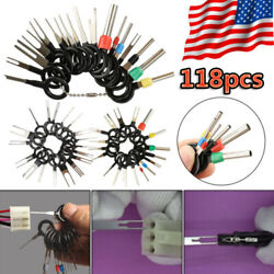 118Pcs Car Terminal Removal Tool Kit Wire connector Pin Release Extractor Puller $18.98