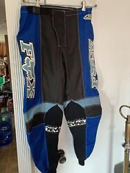 FOX Motocross made with KevlarRacing Pants Blk Blue Size 36 $65.00