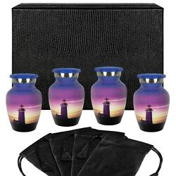Guiding Light Small Keepsake Urn for Human Ashes Set of 4 w Case $44.87