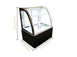 New 1 PC Floor LED Lighting Curved Glass Cake Refrigerated Display Cabinet 220V $1284.40