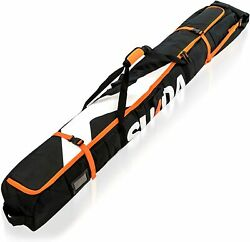Premium Padded Ski Bag For Air Travel Single Ski Carry Bags For Cross Ski And $48.87