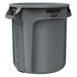 RUBBERMAID COMMERCIAL PRODUCTS FG261000GRAY Utility Container10 gal.Gray