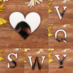 1Pcs 3D Mirror Wall Letters Sticker DIY Art Mural Acrylic Home Room Decor Decals $3.81