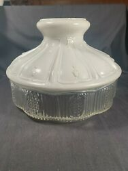 Antique 10quot;#501 11 Aladdin GLASSDOME Oil Lamp Fancy Table Lamp Shade c1920s $80.00