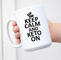 Keep Calm and Keto On Bacon Mug Coffee Cup Men Women Novelty Gift $17.99