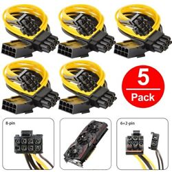 5 pack PCI E 8 pin to GPU 2x 62 pin Power Splitter Cable PCIE PCI Express $18.99